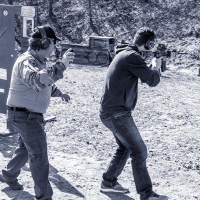 Defensive Rifle Classes at Red Bull Firearms Training - student walking and shooting rifle
