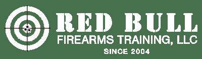Red Bull Firearms Training logo white